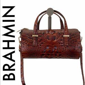 BRAHMIN NWT BROWN LEATHER CROSSBODY/ ARM BAG